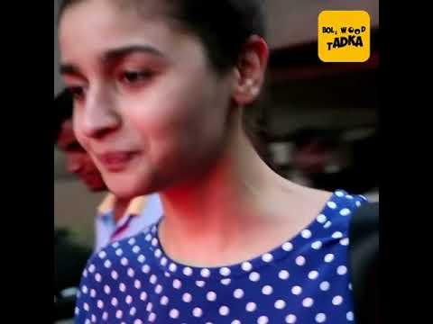 Alia Bhatt Spotted At B'blunt Salon Juhu
