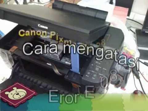 Canon Printer Pixma Mp 287 Cara Mengatasi Eror E 08 Youtube