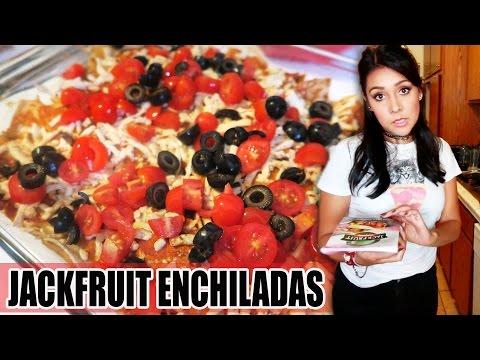 JACKFRUIT ENCHILADAS! (RECIPE?!) – #TastyTuesday