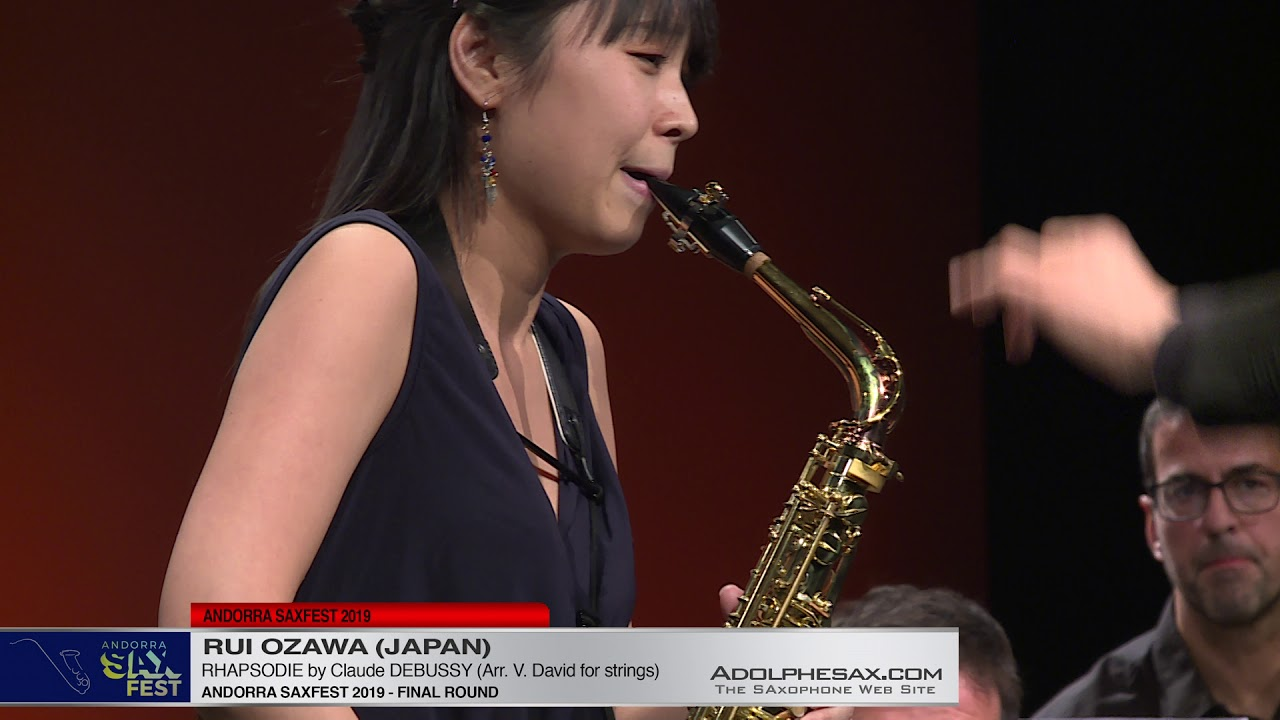 Andorra SaxFest 2019 - Rui OZAWA  - Rhapsodie by Claude DEBUSSY (Arr.  V.David for strings)