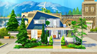 UNIQUE ECO HOME 🌱 || The Sims 4 Speed Build (No CC)