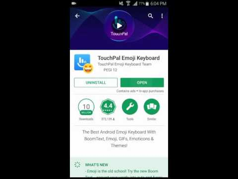 Touchpal Emoji Keyboard For Android - A Complete Video