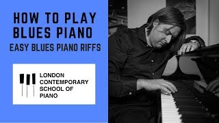 How To Play Blขes Piano (EASY BLUES PIANO RIFFS)
