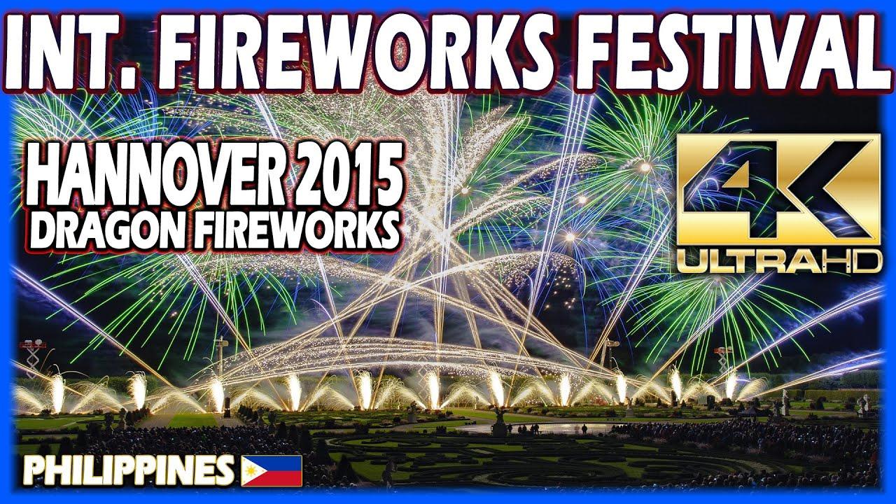 ⁽⁴ᴷ⁾ Int. Fireworks Festival Hannover 2015:  Dragon Fireworks - Philippines  Philippinen - Feuerwerk