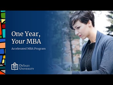 Online Accelerated MBA Program: Earn Your DeSales University MBA Degree in Just One Year