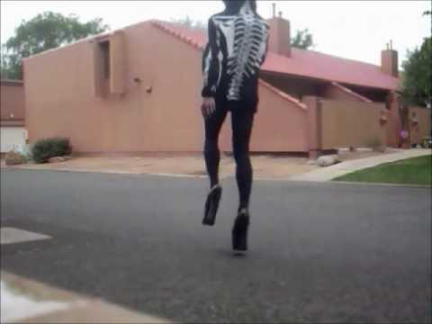 Boy Walking And Dancing In 8 Inch Platform Heels Youtube