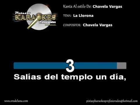 Chavela Vargas LA LLORONA Karaoke