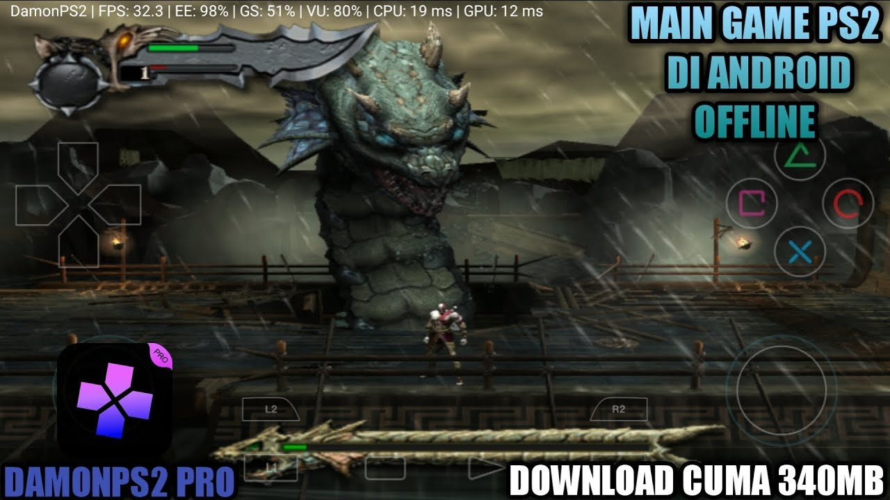 Cara Bermain Game God Of War PS2 Di Android - DamonPS2 Pro ...