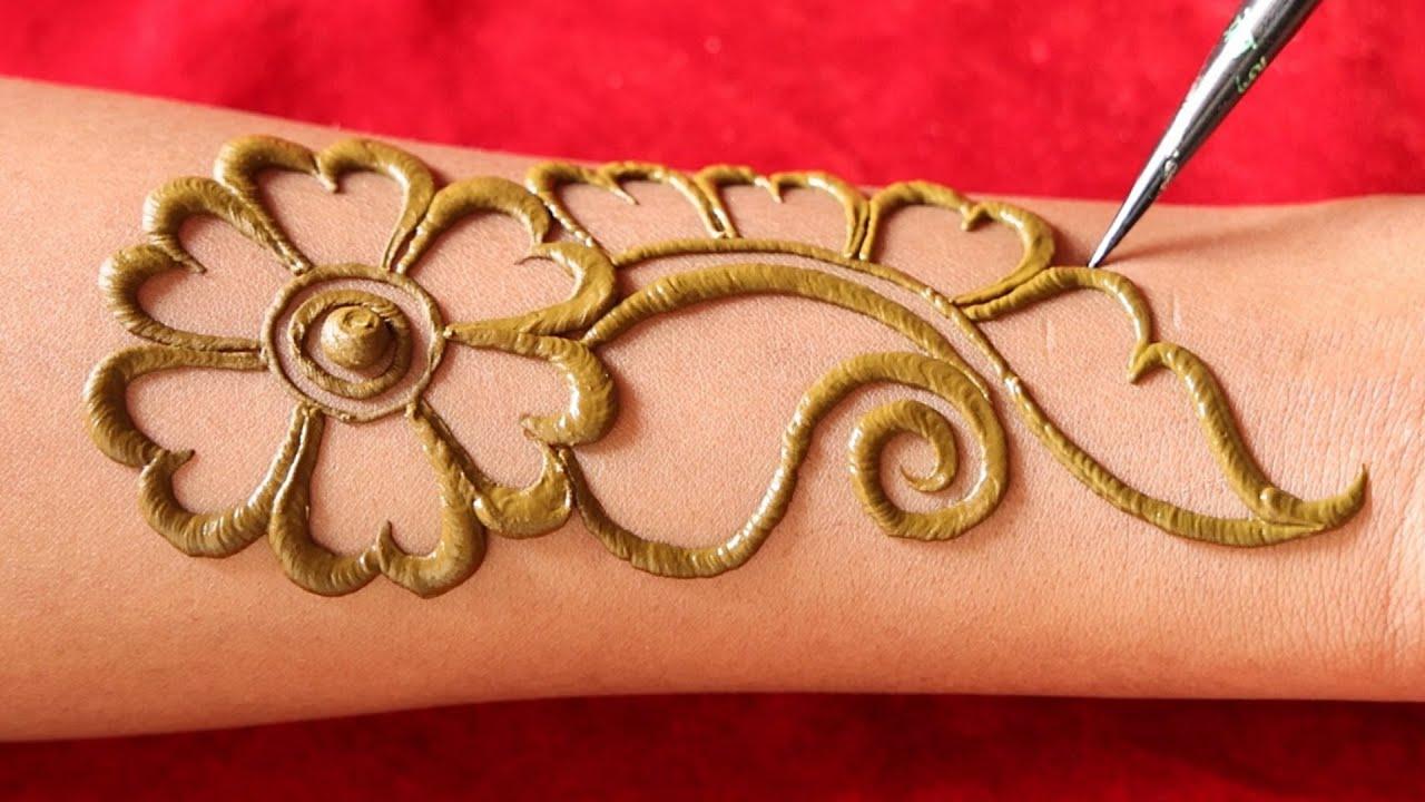 easy to apply arabic mehndi design    easy henna mehndi, new simple arebic mehendi    latest mehandi