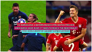 We are now 24 hours away for the barca v bayern match. so much needs to go right barcelona in order them semi finals. this video w...