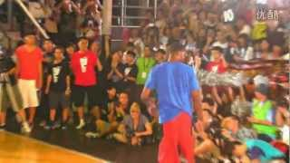 Paul George accomplished an amazing dunk at Shanghai. (Reverse 360 b/t the legs)