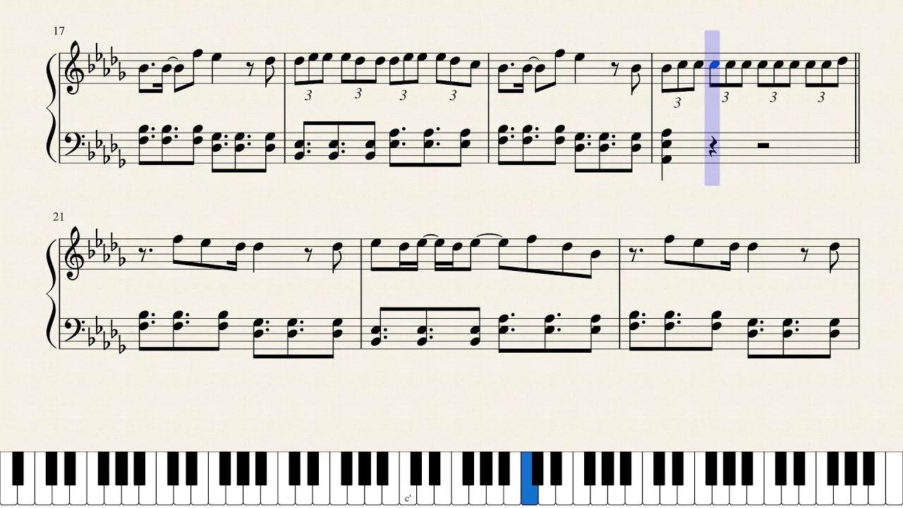 Deja Vu Piano Sheet Music | piano sheet music symbols