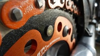 KTM LC4 640 chain and sprockets replacement