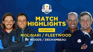 Fleetwood & Molinari vs Woods & DeChambeau | Ryder Cup Saturday Foursomes Highlights