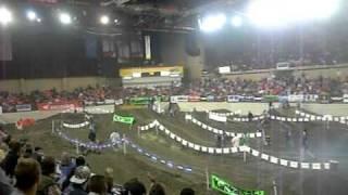 kids racing at sullivan arena 2010 supercross challenge.
