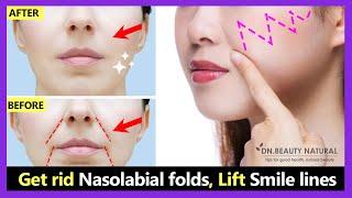 Get Rid Smile Wrinkles, Laugh Lines, Nasolabial Folds, Lift Smile Lines | Face Yoga & Massage