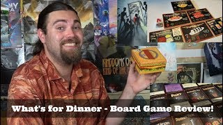 Whats for Dinner? - Kickstarter - Card Game Review
