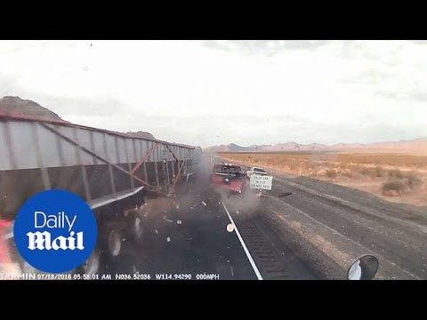 Dash cam video captures moment of deadly semi-truck crash