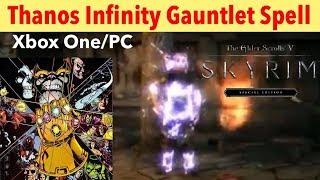 Skyrim SE Xbox One/PC Mods|Thanos Infinity Gauntlet Spell