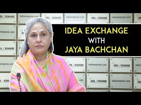 Idea Exchange With Rajya Sabha MP & Actor Jaya Bachchan