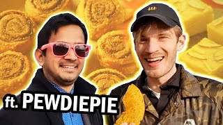INDIAN SNACKS REVIEW 👏 with PewDiePie 👏