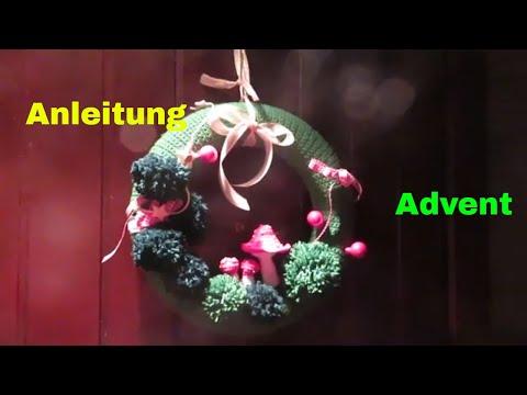 weihnachtstürkranz-häkeln