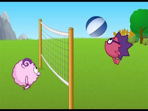 KikOriki:  Volleyball Cartoon / Смешарики Волейбол Мультфильм