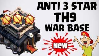 NEW TH9 WAR BASE 2018 Anti 3 STAR | Town Hall 9 (TH9) WAR BASE CLASH OF CLANS