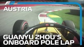 Guanyu Zhou Secures First F2 Pole Of The Season | 2020 Austrian Grand Prix