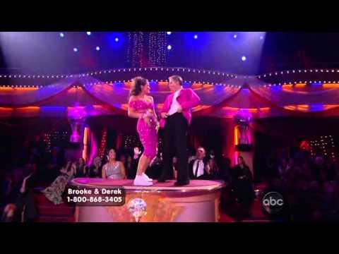 Brooke Burke & Derek Hough dancing Freestyle