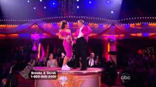 Brooke Burke & Derek Hough dancing Freestyle