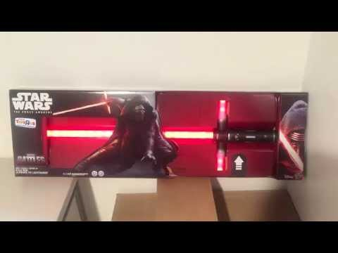 Toys R Us Exclusive Star Wars The Force Awakens KYLO REN Ultimate FX Lightsaber Effects!