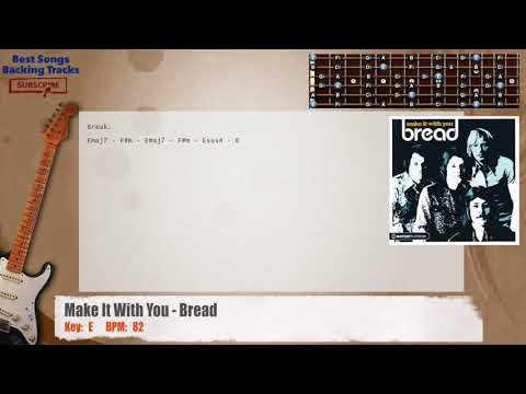 Make It With You - Bread MAIN Guitar Backing Track with chords and lyrics