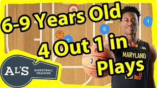 4 out 1 In Basketball Plays For 6 to 9 Year Old Teams | Basketball Plays For Kids
