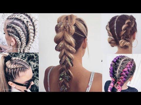 cute-&-easy-braided-hairstyles-for-summer-|-braids-tutorial-2019