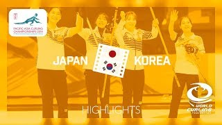 HIGHLIGHTS: Japan v Korea - Women - gold medal - Pacific-Asia Curling Championships 2018
