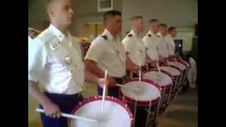 Old Guard FDC drumline rehearses Joe90