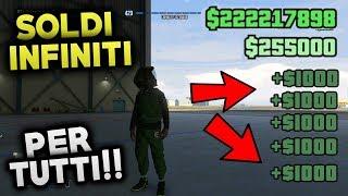 🔥SUPER🔥 GTA 5 Online - SOLDI INFINITI! 1,000$ ogni secondo! (SOLO GLITCH 1.46 GTA 5 Online) ITA