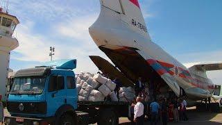 Около 100 тонн гуманитарного груза доставили из России в Сирию самолеты