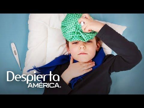 La mejor manera de bajarle la fiebre a un niño