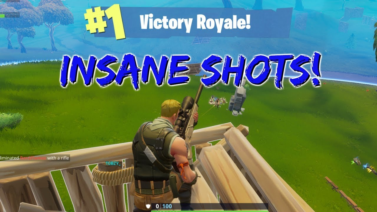 INSANE SNIPER SHOTS- Fortnite Montage #3 - getting better at this game, just hit 400 wins last night xd