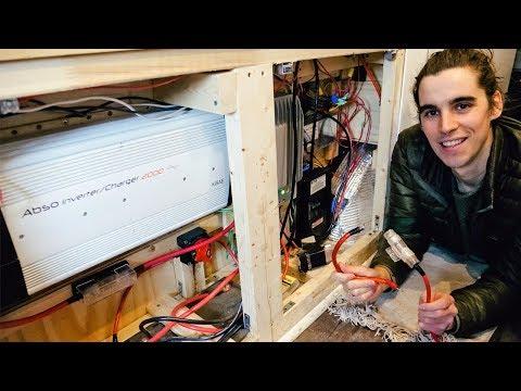 DIY Campervan Electrical System Explained | Battery Bank, Wire Gauge, Inverter & Solar