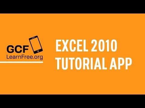 GCFLearnFree.org Microsoft Excel 2010 Tutorial App