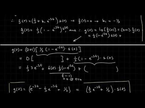 Deriving the Impulse & step response h(t) & g(t) from the System's Differential Equation