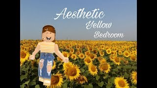 Roblox Bloxburg|| Yellow Aesthetic Bedroom|| Speed-Build