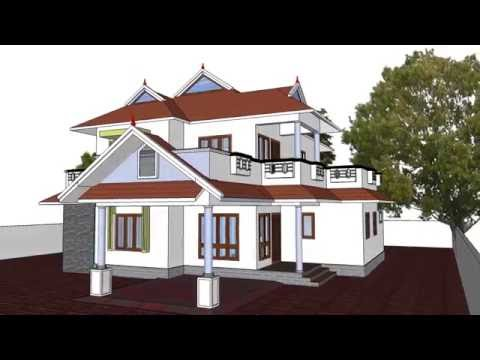 Kerala Home Design 3 Traditional Elevation Modern Sloped Roof Youtube