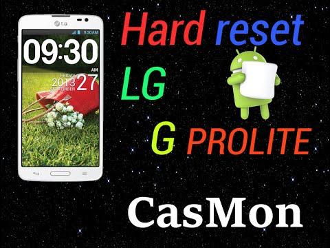 Lg G Pro Lite Hard Reset Restablecer de fabrica Android KitKat 4.4.2 Quitar Patron