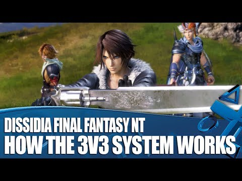 Dissidia Final Fantasy NT Gameplay - How The 3 v 3 Team System Works