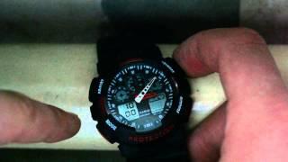 Як налаштувати копію Casio G-Shock GA-100 а так само її функції