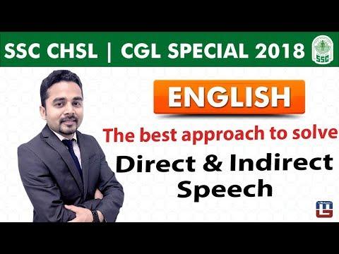 Direct & Indirect Speech | English | SSC CHSL | CGL Special 2018 | 5:00 PM